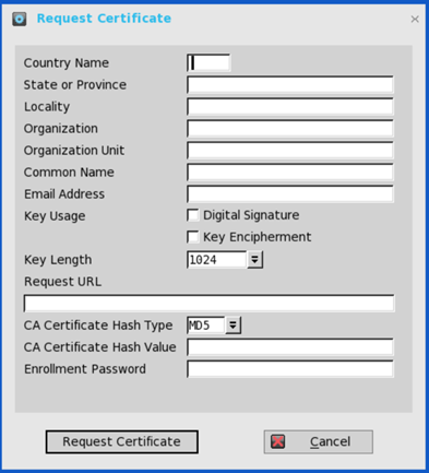Dell wyse thinos scep and ndes certificate configuration on dell wyse thinos go to system toolscertificates and select request certificate and the following screen will appear yelopaper Images