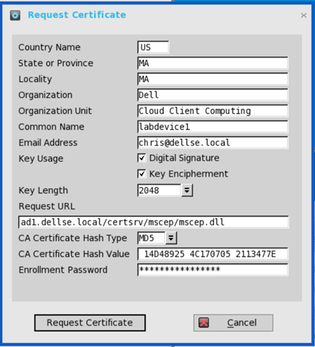 Dell Wyse ThinOS – SCEP and NDES Certificate Configuration | VDI Toolbox