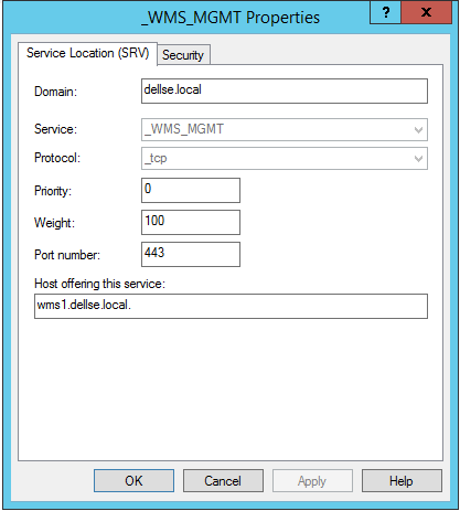 Wyse device manager dns record
